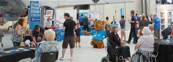 Image-of-last-year's-Duxford-event-showing-visitors-dealers-and-Billy-the-Bear